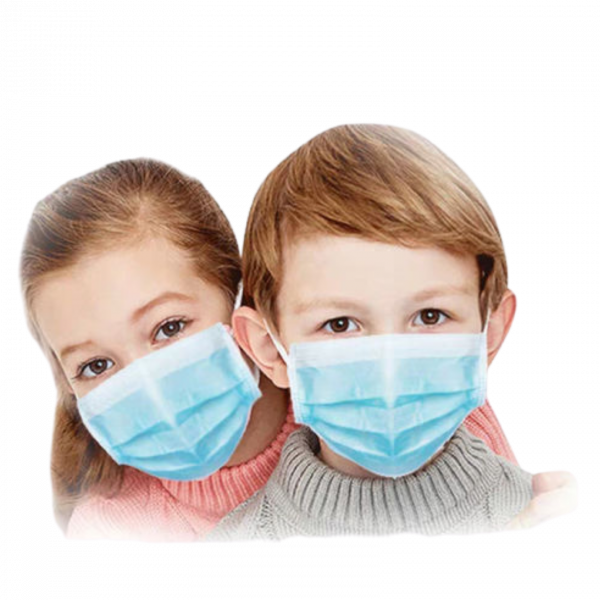 Kids wearing Youth Three Ply Mask
